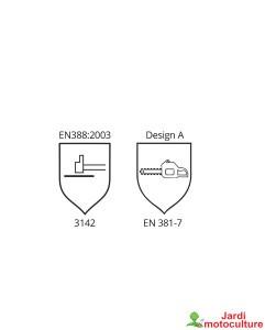 Oregon Gants de protection anti-coupures pour tronçonneuse taille XL