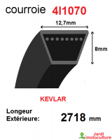 Courroie 4l1070- longueur 2718 mm