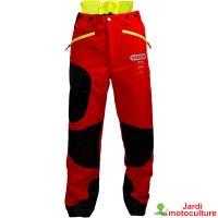 Pantalon Oregon anti-coupures WAIPOUA jaune et rouge  TAILLE M