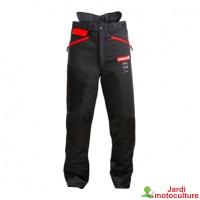 Pantalon Oregon anti-coupures WAIPOUA noir et rouge  TAILLE M