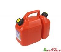 Jerrican double usage qualité pro d'une contenance de 6 + 2,25 litres.