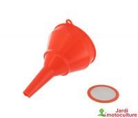 Entonnoir en plastique avec filtre Ø: 100mm .