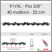 Chaîne de tronçonneuse OREGON 91VXL040E 3/8 1.3mm 40 entraîneurs
