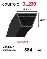 Courroie 3l230- longueur 584mm