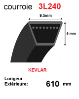 Courroie 3l240- longueur 610mm