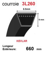 Courroie 3l260- longueur 660mm